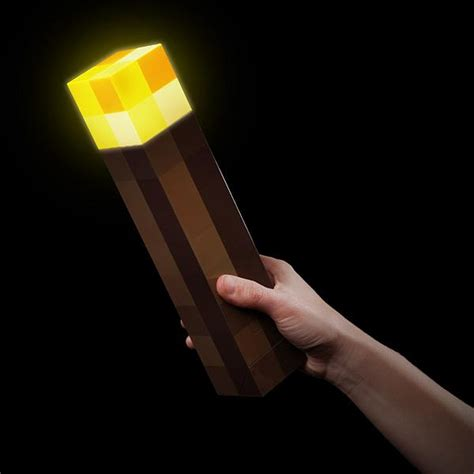minecraft torch shaped flashlight gadgetsin