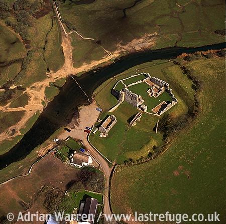 last refuge aerial image search: ogmore castle on the