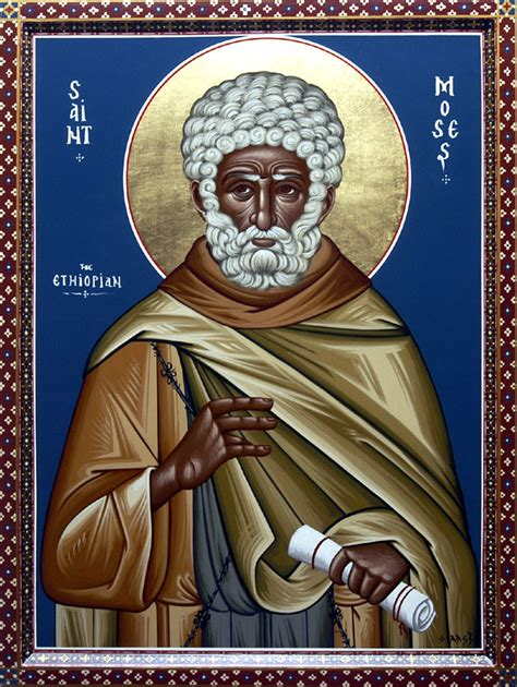 who is st history venerable moses the black of scete orthodox church in