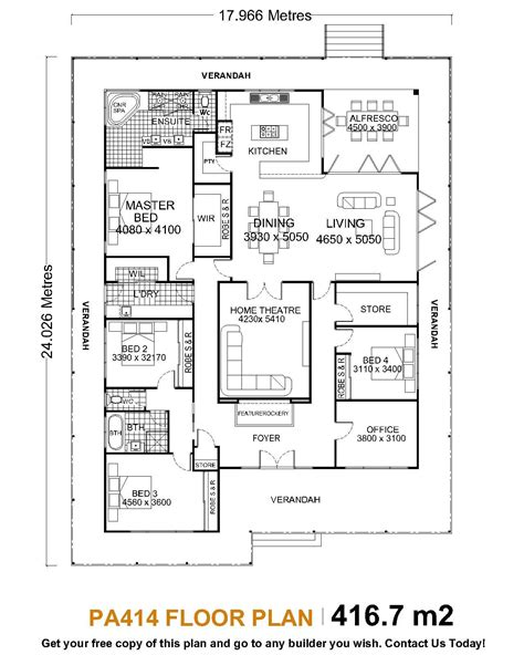 Single Story Home Floor Plans by Single Story House Plans Homes Story