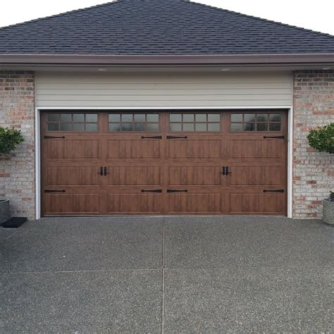 Clopay Door With Wrought Iron Hardware And Seeded Glass Garage Door Vancouver Wa