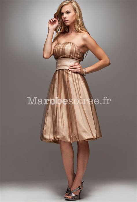 Robe De Cocktail En Satin - robe de cocktail georgie en satin or bustier forme ballon