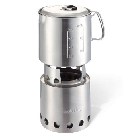Solo Stove Lite: Compact Wood Burning Backpacking Stove & Solo Pot 900: Lightweight Stainless
