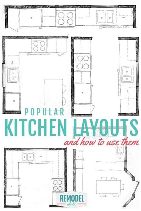 uses of kitchen layout popular kitchen layouts and how to use them remodelaholic