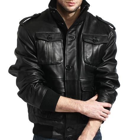 Fall 2007 Leather Jackets by Leather Safari Bomber Jacket Black S Fall Leather