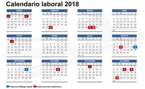 Calendario 2018 Andalucia Calendario Laboral 2018 M 225 S De 200 Plantillas Para