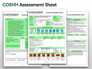 coshh assessment template best photos of coshh assessment forms template sign up
