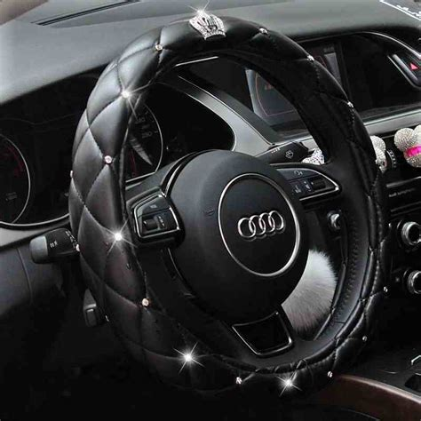 Auto Lenkradbezug by Aliexpress Buy Crown Rhinestone Covered Car