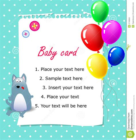 Images Birthday Cards Baby Happy Birthday Card Blue Royalty Free Stock Photos