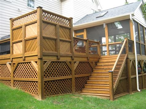 Front porch wonderful home exterior design with brown oak wood deck font porch designed with