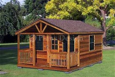 20 x 16 cabin shed with porch project plans design 62016