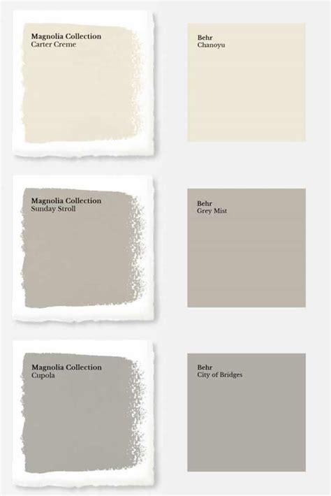 magnolia color magnolia paint colors matched to behr joyful derivatives