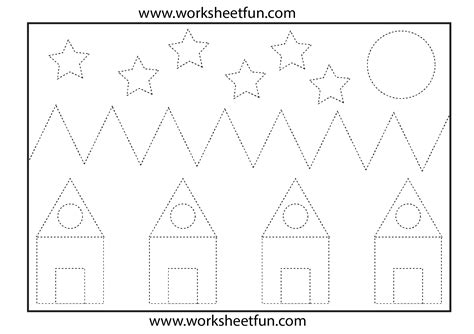 tracing shapes worksheets picture tracing 1 worksheet free printable worksheets worksheetfun
