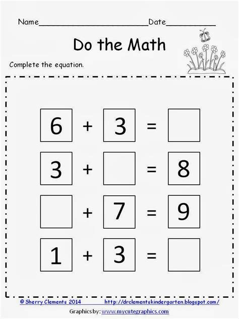first grade math freebies