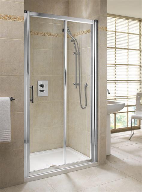 twyford geo mm sliding shower door left   hand