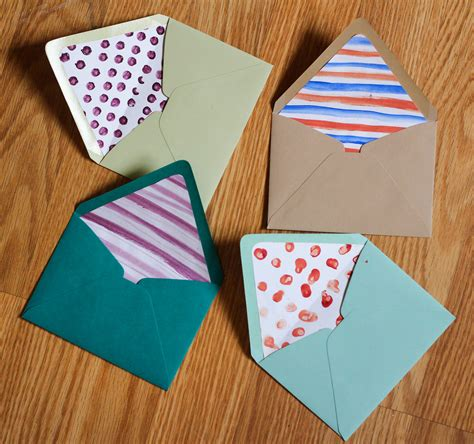 make own envelope diy envelope liners the crafted life