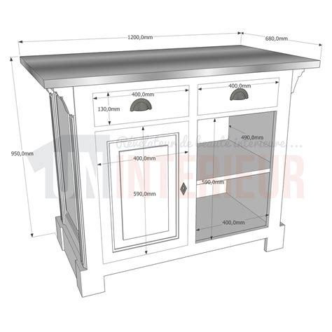 petit comptoir petit comptoir cuisine en pin 120cm zinc