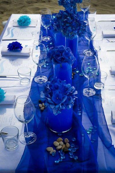 2014 gauze wedding table runner, blue wedding table runner
