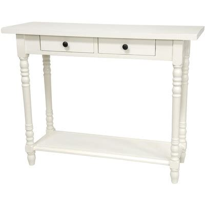 White Foyer Table Furniture Foyer Console Table With 2 Drawers Reviews Wayfair
