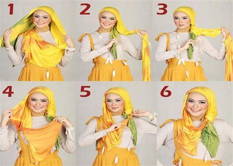 tutorial jilbab indah nevertari cara memakai jilbab modern cantik modis hargaikataku