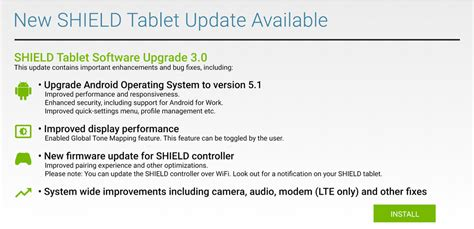 android 5 1 update nvidia starts rolling out android 5 1 update for shield tablet