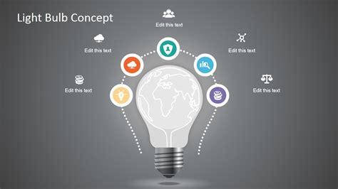 light bulb powerpoint template creative light bulb graphic for powerpoint slidemodel