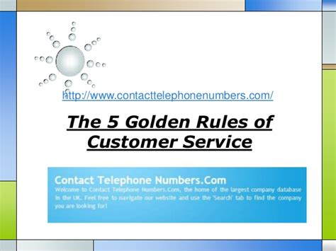service laws the 5 golden of customer service