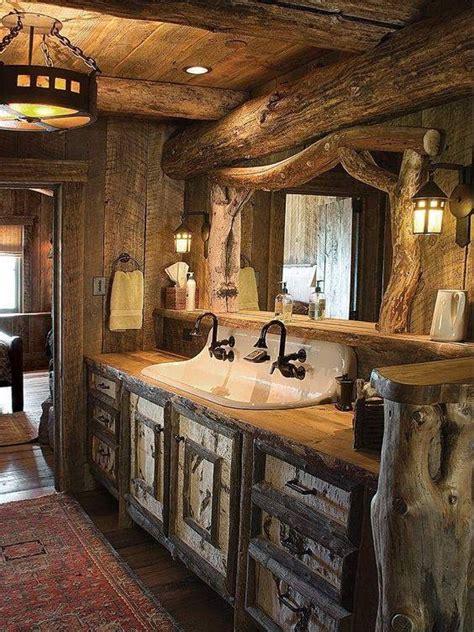 interessante ideen fuer rustikale badezimmer aus holz und