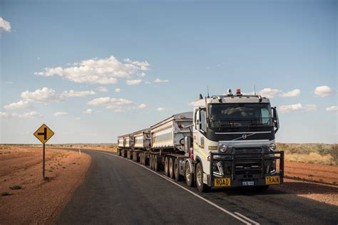 volvo trucks in australia volvo trucks 175 tonnes road train through the