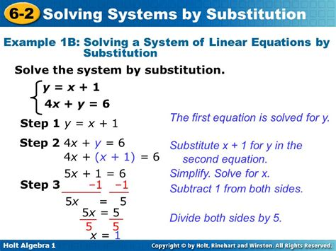 Solving Linear Systems By Substitution Worksheet by Solve Substitution Images