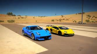 Lamborghini Aventador Forza Horizon Lamborghini Aventador Lp750 4 Sv Vs F12 Tdf Drag