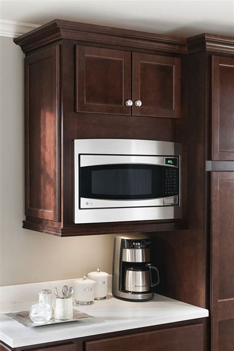 kitchen cabinets microwave a wall built in microwave cabinet keeps counter clear and