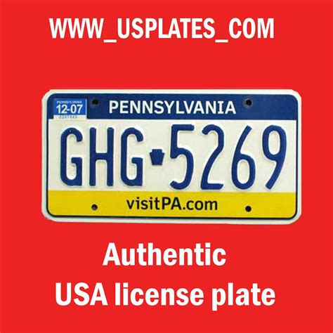 pa license real authentic pennsylvania license plate auto number car tag pittsburgh pa ebay