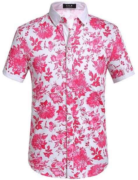 mens pink floral shirt custom shirt