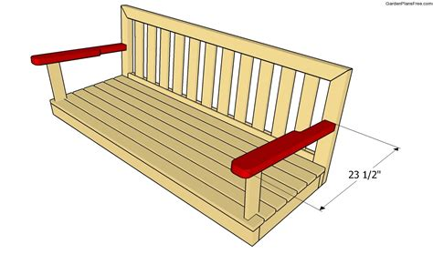 wooden swing bench plans bench swing plans free garden plans how to build