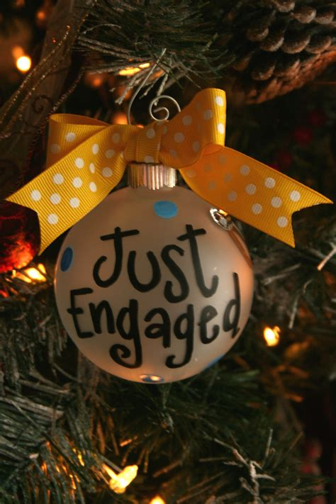 just engaged ornament christmas ornament ornament