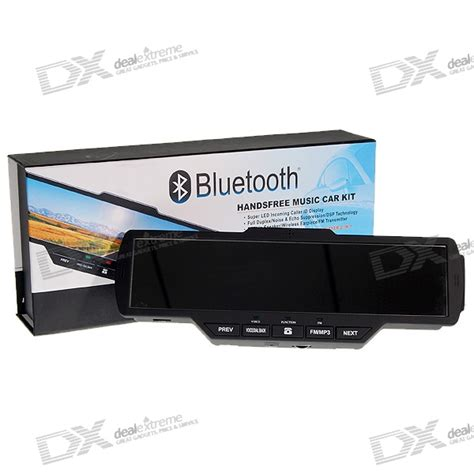 Modoo Bluetooth Mirror Free Car Kit by All In 1 Multimedia Bluetooth Rearview Mirror