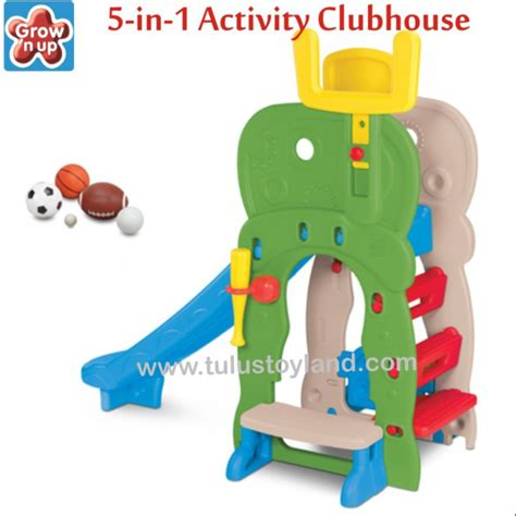 Grow N Up 2 In 1 Slide To Rocker grow n up 5 in 1 activity clubhouse slide perosotan anak