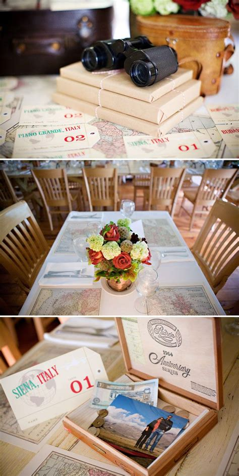 travel themed rehearsal dinner ii wraps centerpieces and tables
