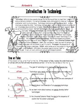 Introduction To Science Worksheet by Introduction To Technology Worksheet By Adventures In