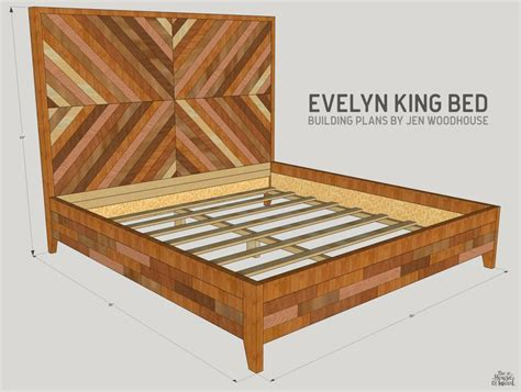 king size bed plans 25 best ideas about chevron bedding on pinterest