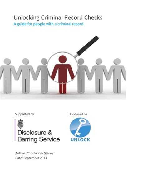 A Persons Criminal Record Unlocking Criminal Record Checks A Guide For With A Criminal Record