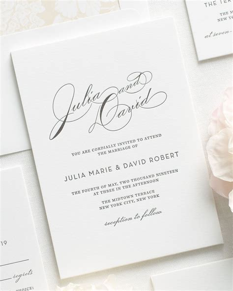 Wedding Invitations Letterpress by Vintage Glam Letterpress Wedding Invitations Letterpress
