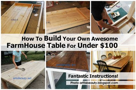 build your own kitchen table how to build your own awesome farmhouse table for under 100
