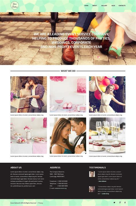 Memorable Events Planner WordPress Theme #51310