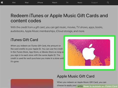 Activate Itunes Gift Card - 3 ways to activate an itunes card wikihow