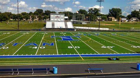 tartan high school's track and football fields looking