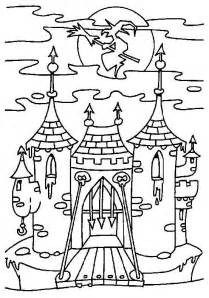 witch castle coloring pages coloring pages