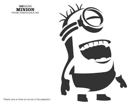 printable pumpkin carving patterns minion 300 best images about htv on pinterest silhouette heat