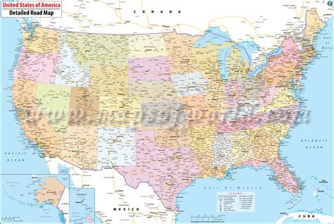 map of roads in usa buy large road map of usa